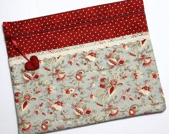 Pale Blue Florals Cross Stitch Project Bag