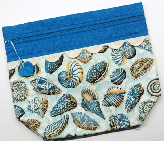 Big Bottom Bag Seashells  Cross Stitch Project Bag