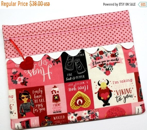 SALE Be My Valentine Cross Stitch Project Bag