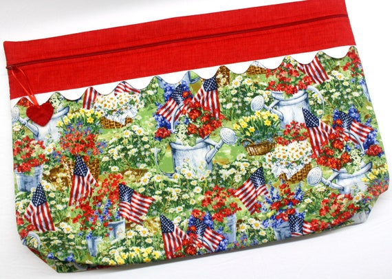 LOTS2LUV Amercian Summer Cross Stitch Project Bag