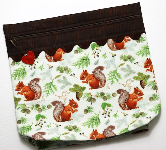 MORE2LUV Red Squirrel Cross Stitch Project Bag