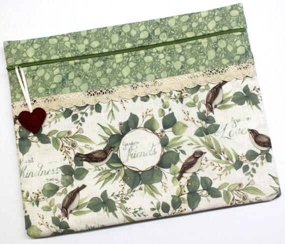 Plant Kindness Birds Cross Stitch Project Bag
