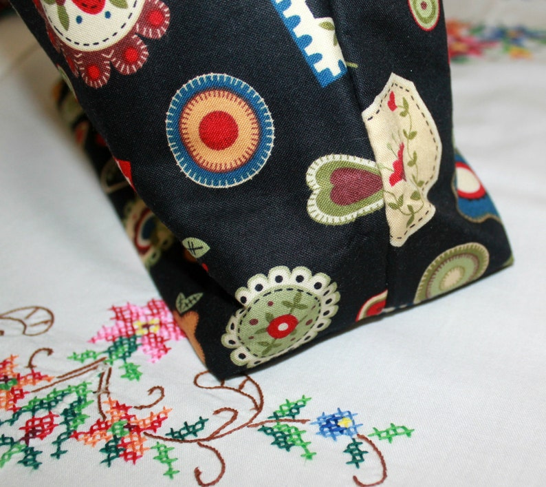 MORE2LUV Bright Budds Cross Stitch Project Bag