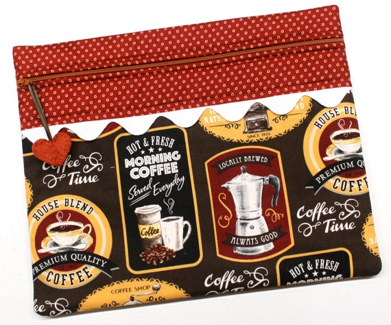Morning Coffee Cross Stitch Project Bag