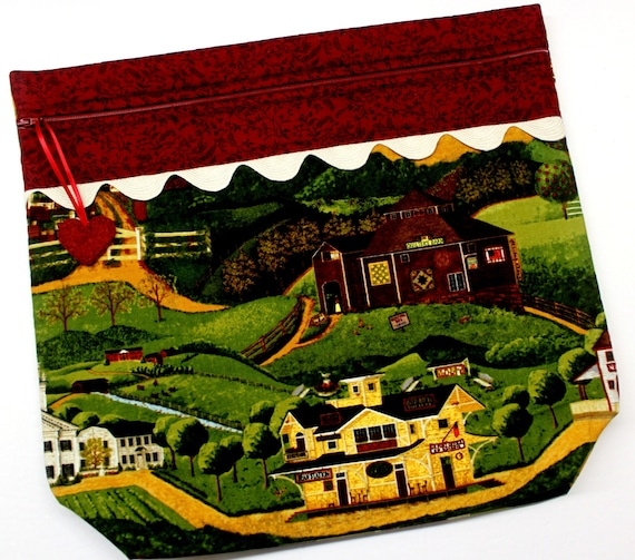 MORE2LUV Countryside Cross Stitch Project Bag