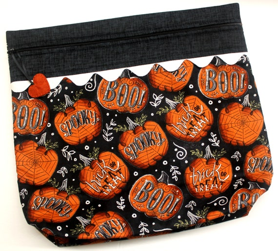 MORE2LUV Boo Pumpkins Cross Stitch Project Bag