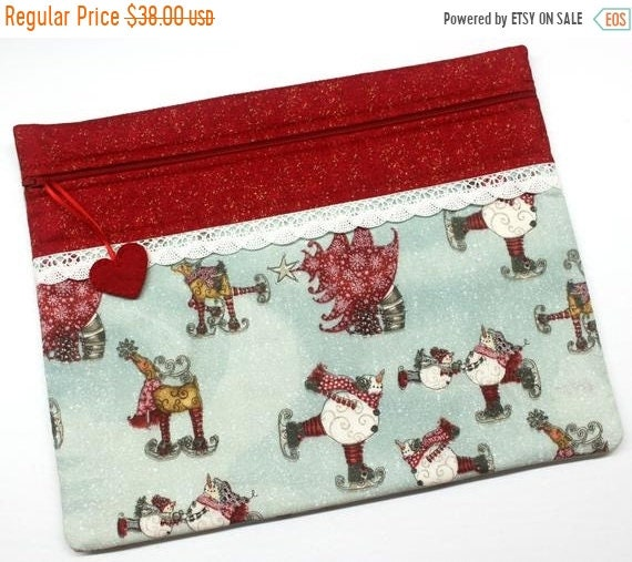 SALE Ice Dancing Cross Stitch Project Bag