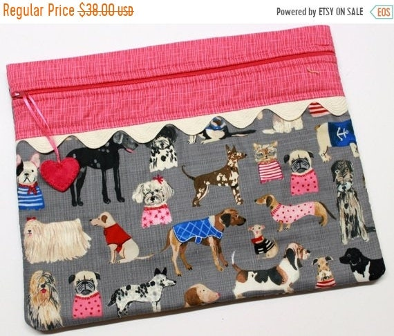 SALE Haute Dog Cross Stitch Project Bag