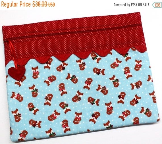 SALE Foxy Little Christmas Cross Stitch Project Bag