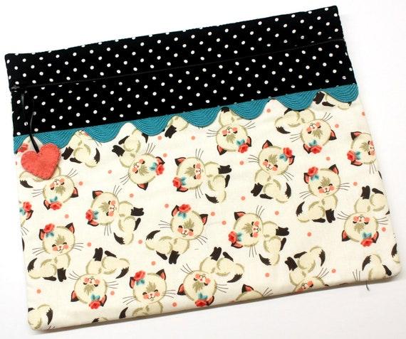 Sweet Vintage Kitties Cross Stitch Project Bag