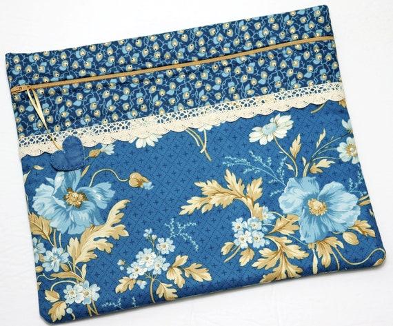 Blue Dreams Cross Stitch Project Bag