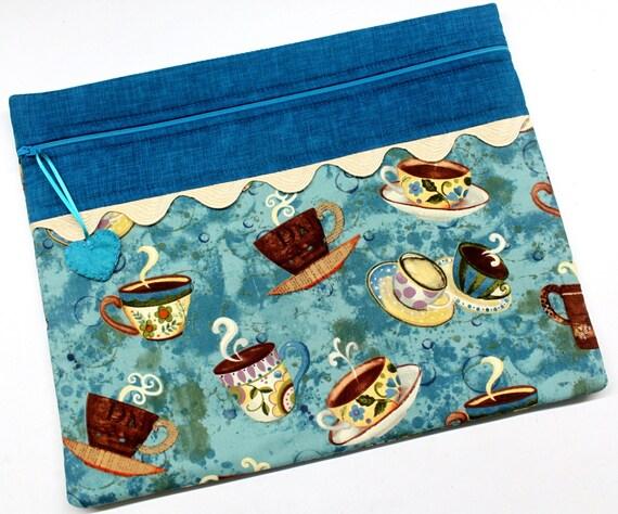 Teal Cuppa Cross Stitch Project Bag
