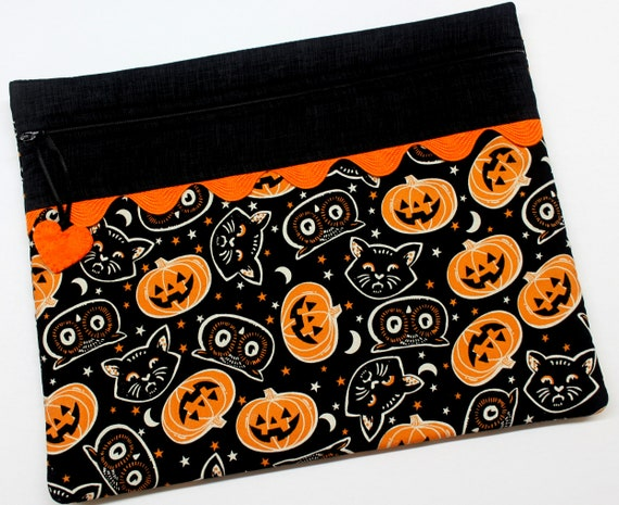 Retro Halloween Cross Stitch Project Bag