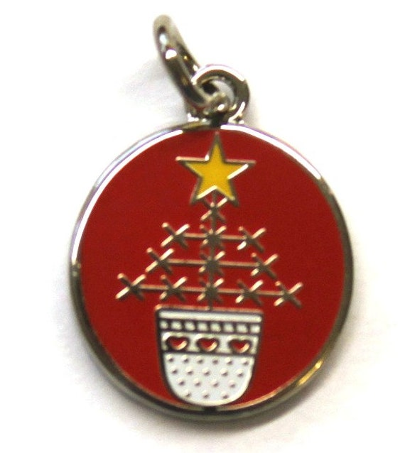 Exclusive Thimble Christmas Tree Enamel Charm