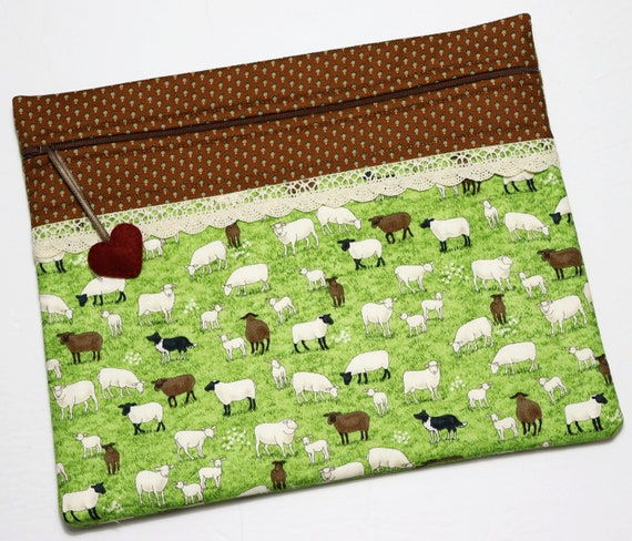 Sheep in the Meadow Cross Stitch Project Bag