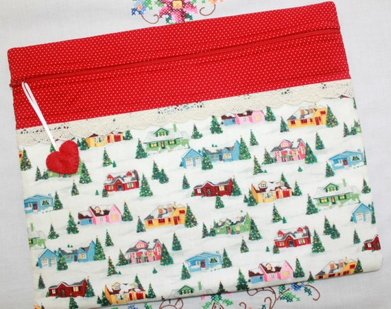 Home For The Holidays Cross Stitch Project Bag