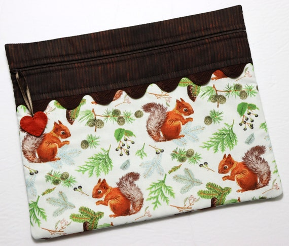 Red Squirrel Cross Stitch Project Bag