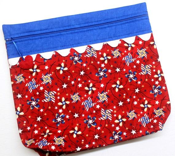 MORE2LUV Patriotic Pinwheels Cross Stitch Project Bag