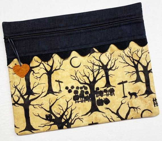 Spooky Pumpkin Patch Cross Stitch Project Bag