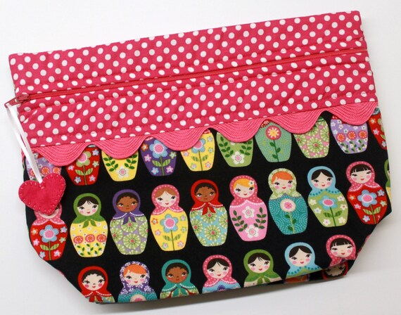 Lil' Big Bottom Matryoshka Dolls Cross Stitch Bag