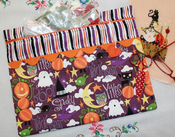 Yikes! It's Halloween Cross Stitch Project Bag