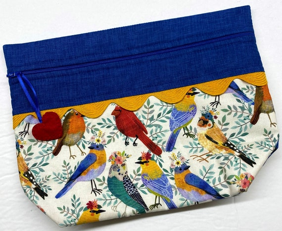 Lil' Big Bottom Pretty Bird Cross Stitch Bag