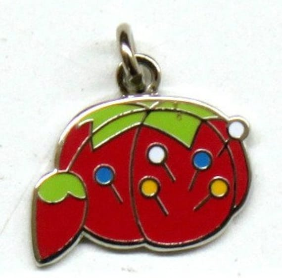 "Pin Cushion 5/8"" Enamel Charm"