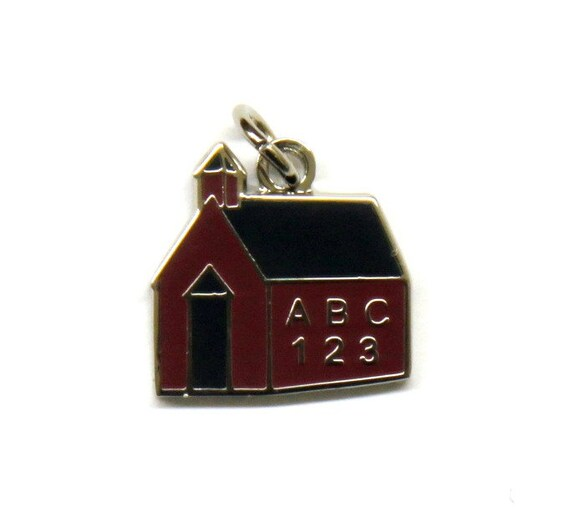 Exclusive Schoolhouse Enamel Charm