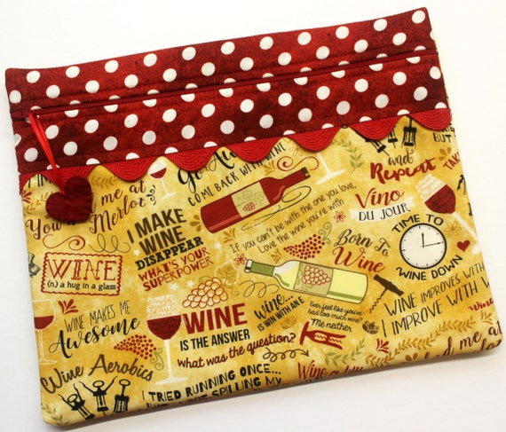 Wine A Little Cross Stitch Project Bag