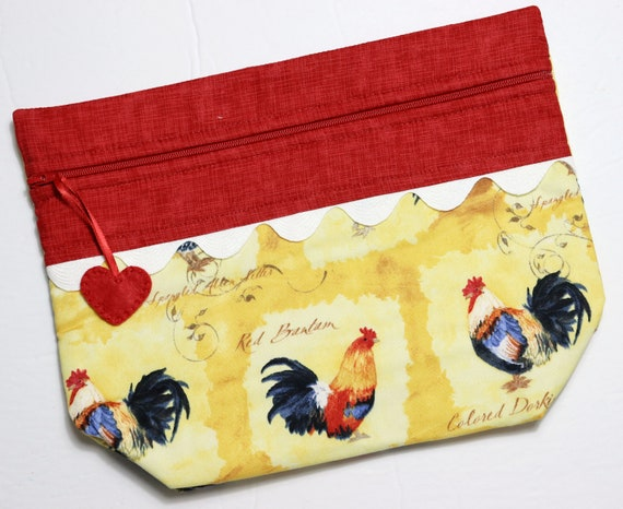 Lil' Big Bottom Red Rooster Cross Stitch Bag