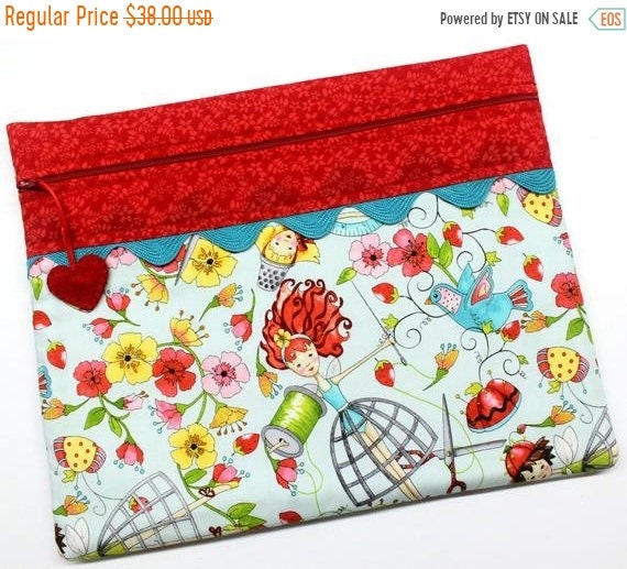 SALE Floss Fairies Cross Stitch Project Bag