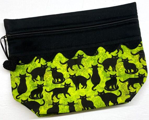 Lil' Big Bottom Black Cats Cross Stitch Bag