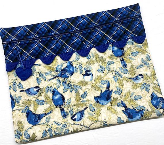 Winter Blue Jay Cross Stitch Project Bag