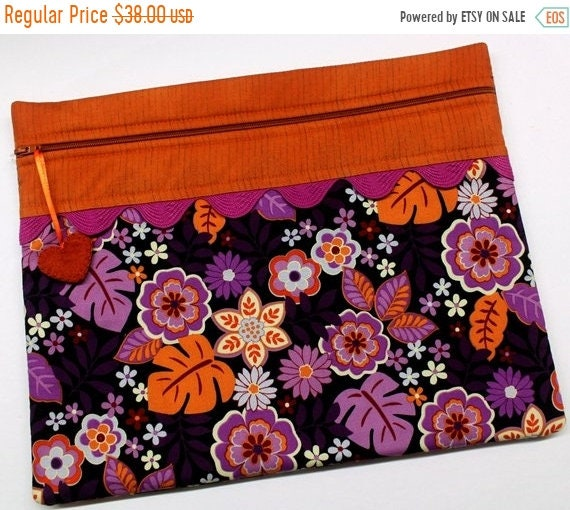 SALE Purple Paradise Cross Stitch Project Bag