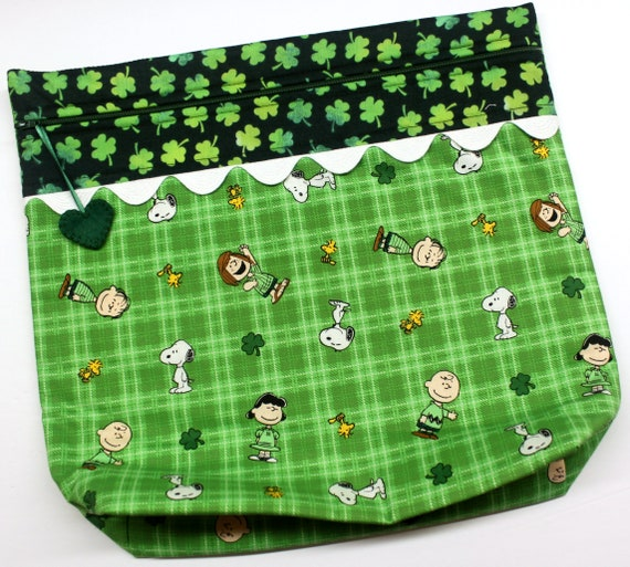 MORE2LUV Lucky Peanuts Cross Stitch Project Bag