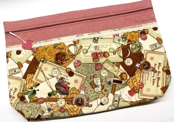 LOTS2LUV Vintage Needlework Cross Stitch Project Bag