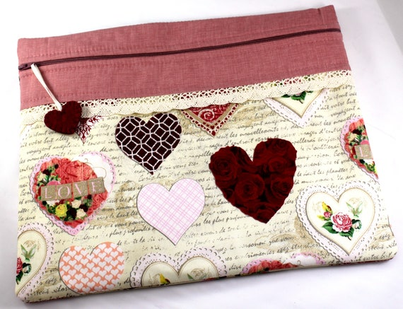 Valentine Hearts Cross Stitch Project Bag