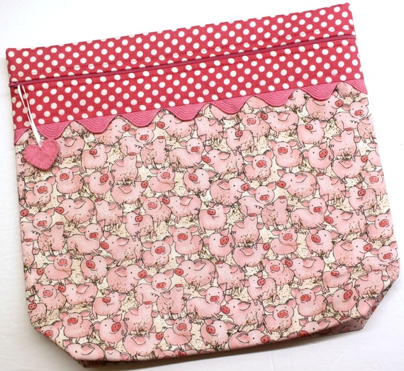 MORE2LUV Piggy Wiggly Cross Stitch Project Bag