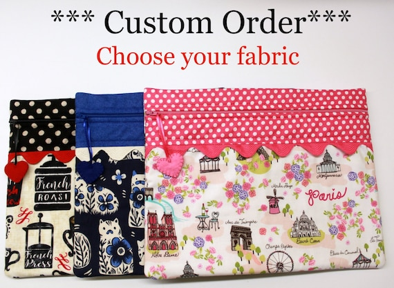Standard Size Choose Your Fabric Cross Stitch Embroidery Project Bag