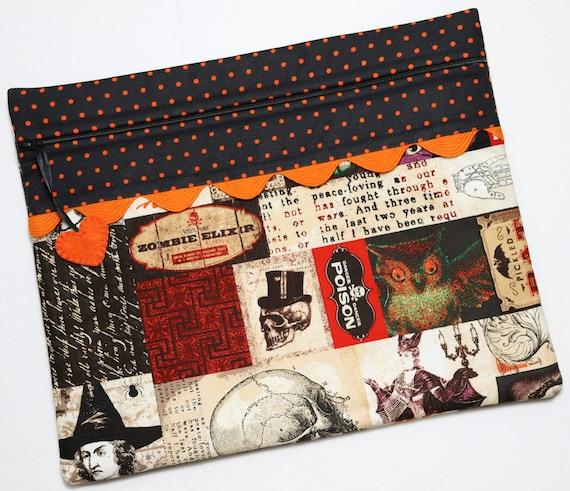Spooky Patchwork Cross Stitch Project Bag