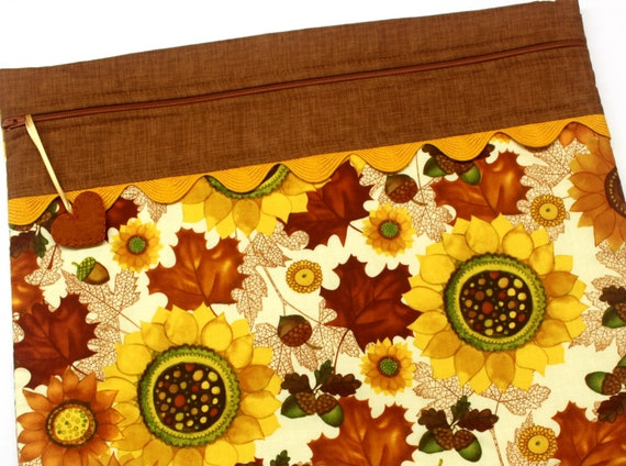 Fall's Bounty Cross Stitch Project Bag