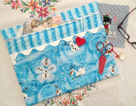 Frozen Olaf Cross Stitch Project Bag