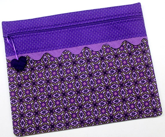 Purple Boho Cross Stitch Project Bag