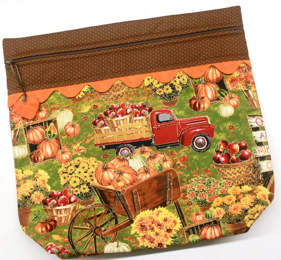 MORE2LUV  Fall Pumpkin Truck Project Bag