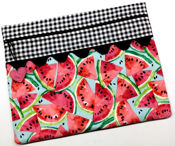 Summertime Watermelons Cross Stitch Project Bag