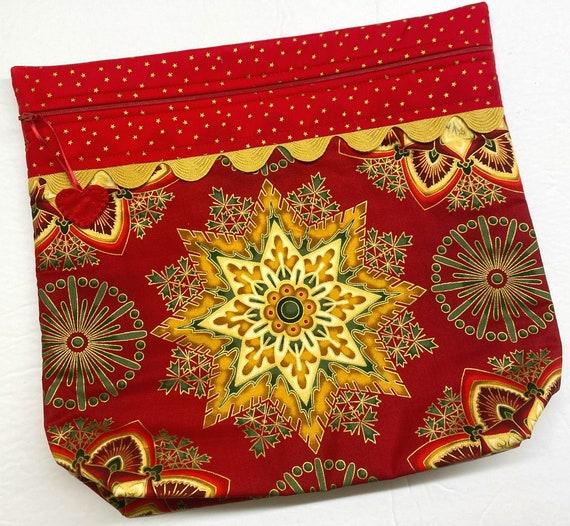 MORE2LUV Christmas Kaleidoscope Cross Stitch Project Bag