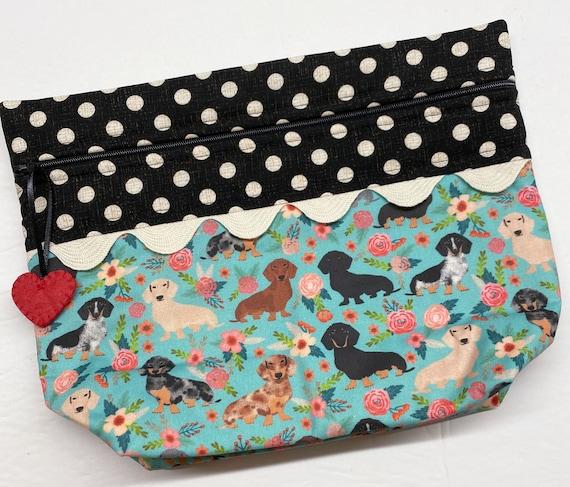 Lil' Big Bottom Spring Doxies Cross Stitch Bag