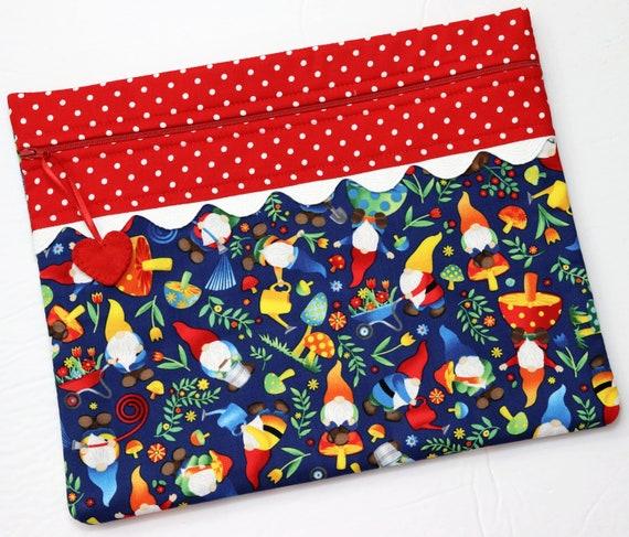 Garden Gnomes Cross Stitch Project Bag