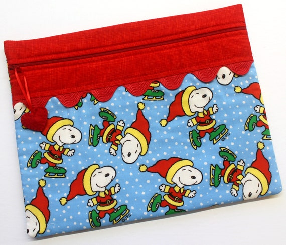 Snoopy on Ice Cross Stitch Project Bag