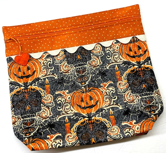 MORE2LUV Glittering Halloween Cross Stitch Project Bag